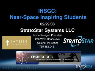 INSGC:   Near-Space Inspiring Students