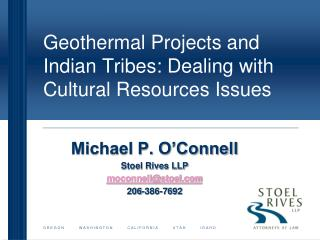 geothermal projects and indian tribes: dealing with cultural ...