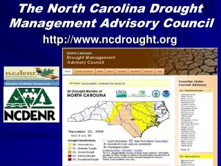 The North Carolina Drought Management Advisory Council
