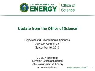 Update from the Office of Science