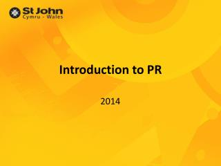 Introduction to PR