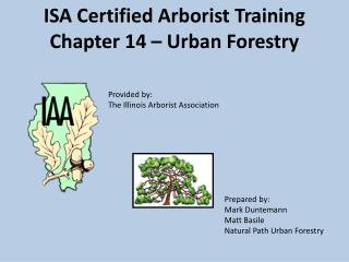 ISA Certified Arborist Training Chapter 14 – Urban Forestry