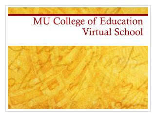 MU College of Education Virtual School
