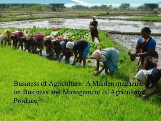 Agriculture Magazine