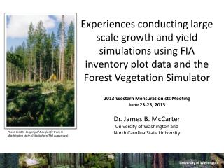 Experiences conducting large scale growth and yield simulations using FIA inventory plot data and the Forest Vegetation