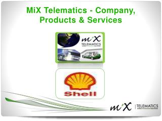 MiX Telematics - Company, Products & Services