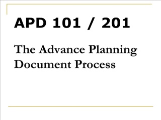 apd 101  201 the advance planning document process