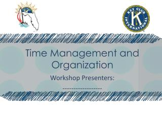 Time Management and Organization