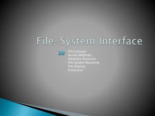 File-System Interface
