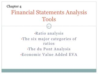 Financial Statements Analysis Tools