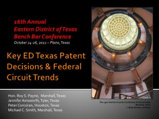 Key ED Texas Patent Decisions & Federal Circuit Trends