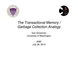 The Transactional Memory /  Garbage Collection Analogy