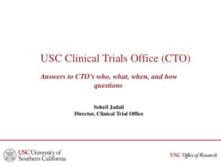 USC Clinical Trials Office (CTO)