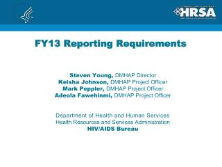 FY13 Reporting Requirements