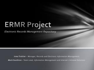 ERMR Project