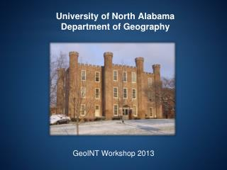 University of North Alabama Department of Geography