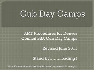 Cub Day Camps