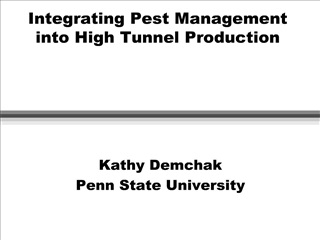 integrating pest management into high tunnel production