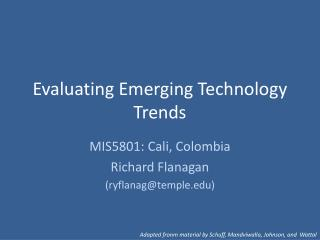Evaluating Emerging Technology Trends