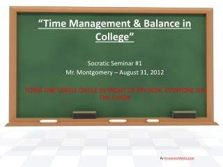 """Time Management & Balance in College"""