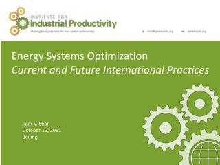 Energy Systems  Optimization Current and Future International  Practices