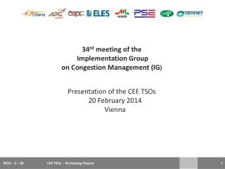 34 rd meeting of  the  Implementation Group  on  Congestion  Management (IG ) P resentation of the CEE TSOs 20  February