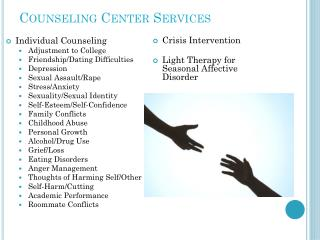 Counseling Center Services
