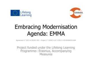 Embracing Modernisation Agenda: EMMA