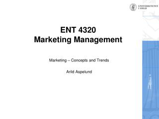 ENT  4320 Marketing Management