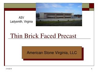 Thin Brick Faced Precast