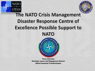 The NATO  Crisis Management  Disaster  R esponse Centre of Excellence  P ossible Support to NATO