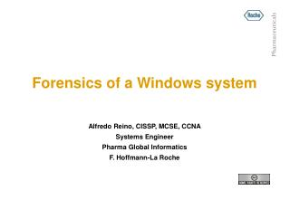 Forensics of a Windows system