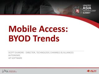 Mobile  Access: BYOD Trends