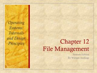 Chapter 12 File Management