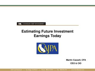 Estimating Future Investment  Earnings Today