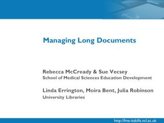 Managing Long Documents