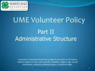 UME Volunteer Policy