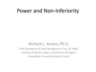 Power and Non-Inferiority