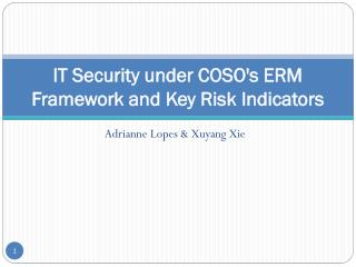 IT Security under COSO's ERM Framework and Key Risk  Indicators
