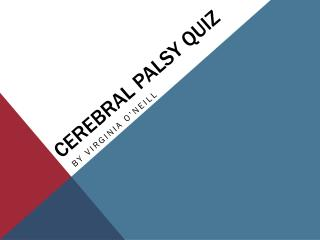 Cerebral Palsy Quiz