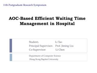 AOC-Based Efficient Waiting Time Management in Hospital