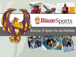 Boccia: A Sport for all Abilities