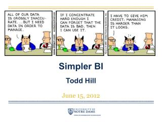 Simpler BI Todd Hill