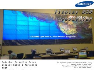 Solution Marketing Group Display Sales & Marketing Team Visual Display Division