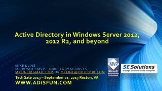 Active Directory in Windows Server 2012, 2012 R2, and beyond