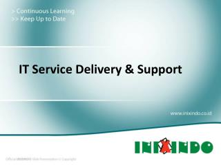 IT Service Delivery & Support