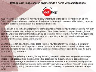 Dothop.com image search engine finds a home with smartphones