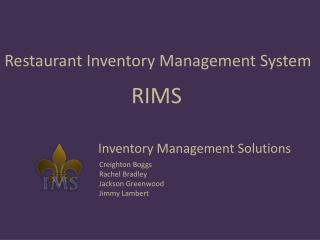 Restaurant Inventory Management System