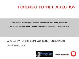 FORENSIC  BOTNET DETECTION