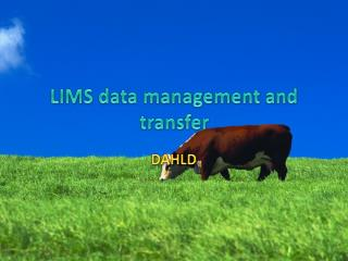 LIMS data management and transfer